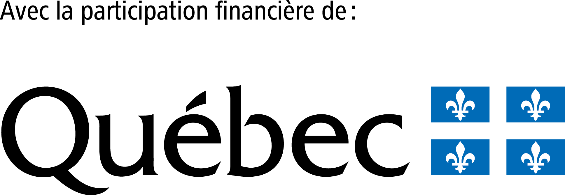 With the financial participation of the Government of Quebec